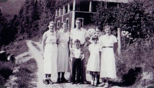 Left to Right: Frances, Mrs. Finucane, Jim, George, Irene, Dorothy and Bertha