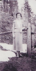 Mary Finucane taught school at Craigellachie and Solsqua. Photo 1934