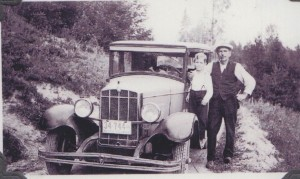Mr. Finucane with son George (1930 Durant car) Photo 1935