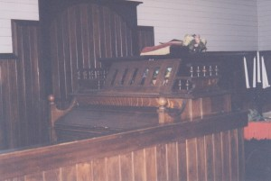 church inside pump organ